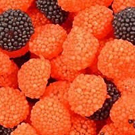 gluten free blackberry and raspberry domes